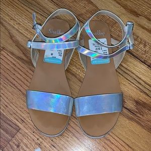 Shellys London Holographic Sandals